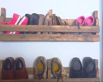 Shoe rack, Rustic shoe rack, Pallet shoe rack, Rustic pallet, Wall shoe rack