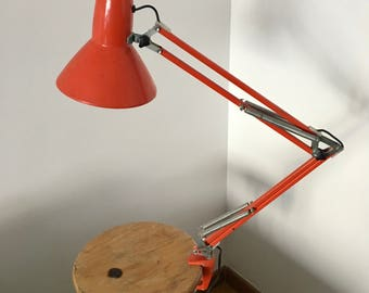 Lamp architect Waso coral vintage 1970
