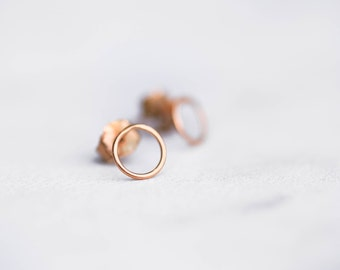 Mini Open Circle Stud Earrings, Simple Earrings, RINGCRUSH, Everyday Earrings, Dainty Earrings