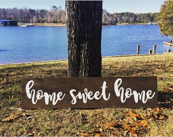 Home Sweet Home Wood Pallet Sign - Home Decor