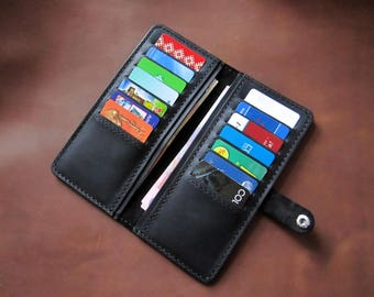 Leather Cardholder.Gift for HIM,Gift for Dad,Gift for Men,Gift for Hasband,Gift for Groom.3th anniversary Gift.Birthday Gift