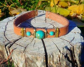 leather turquoise bracelets