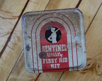 Sentinel Utility Vintage First Aid Kit