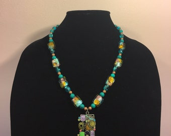 Hand-Made Multi Color Beaded Necklace