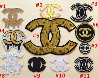 11 Kinds Different Designer Of Double C CC Logo Patch Iron On Patch For Bags