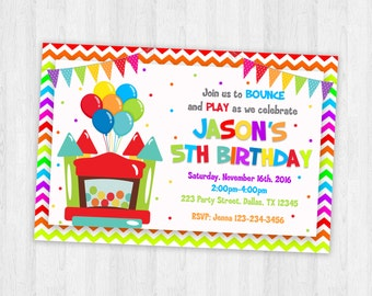 Bouncy Castle Invitations Printable Party Invitations Kids Party Invitations Kids Party Printable Invites Party Printables