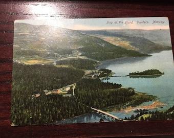 Vintage Post Card. Bay of the Fjord. Valders, Norway. Unused