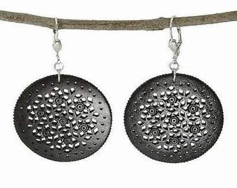 Round Latice Earrings