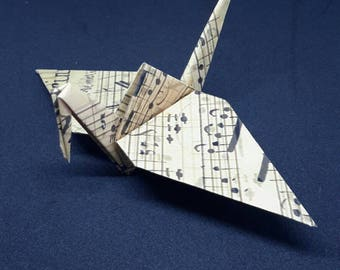 20 Origami Crane Wedding Favors Music Score