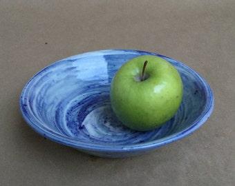 Blue Agateware Bowl - Porcelain