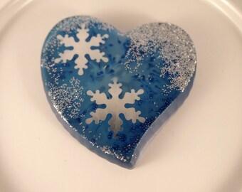 Heart blue silver/blue