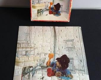 Paddington Bear Jigsaw Puzzle - 80 pieces, Whitman 7731, 1980's Kid's puzzle.