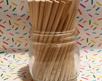 100 Candy Apple Sticks