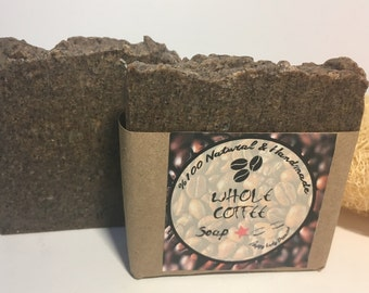 FREE US SHIPPING!!!Whole Coffee (anti-cellulite)-%100 natural cold process beauty soap