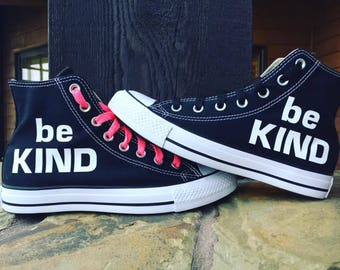 be KIND Converse Chuck Taylor High-tops