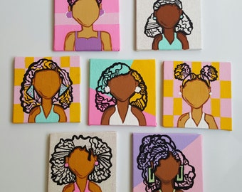 Dope Refrigerator Magnets - Set of 4 - Hand Painted