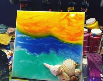 Sea shell Resin art