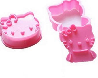 2 pans cake Hello Kitty takes away play dough in sugar & almond