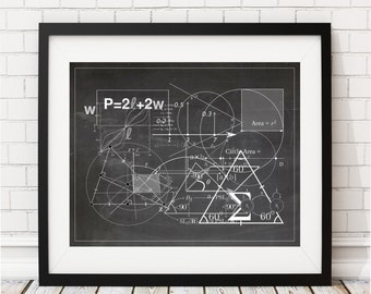 Math Print, Math Classroom Decor, Math Poster, Math Teacher Gift, Math Gifts, Math Art Print, Mathematics Equation, Math Nerd, Math Geek Art