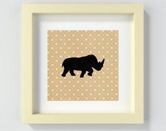 Instant Download Safari Art, Printable Nursery Safari Art, Printable Rhino, Rhino Nursery Print, Printable Safari Nursery Art, Rhino Poster