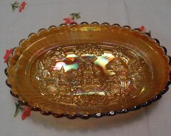 Carnival Glass bowl 1920 Windmill