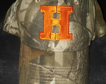 Real Tree Camo Hat with Orange H