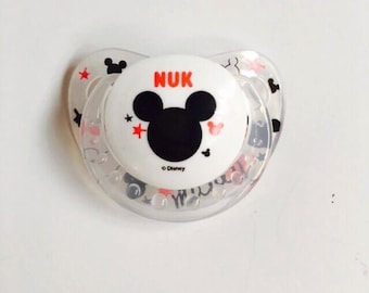 Hard to find NUK MICKEY Mouse REBORN Doll Non - Magnet Putty Pacifier Paci
