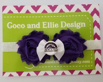 colorado rockies headband/rockies headband/rockies for girl/colorado rockies baby gift/rockies gift for girl/colorado rockies baseball girl