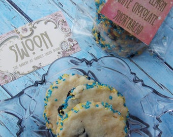 Blueberry Lemon White Chocolate Shortbread Cookie Gift Box ~ Father's Day Cookies