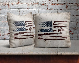 Gun Flag Pillow