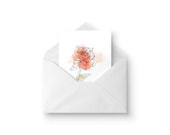 Card Rose / / Rose Card