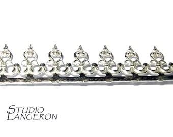935 Sterling Silver Bezel wire, Gallery wire, Gallery ribbon, Gallery pattern, Wire, Silver wire - 4 inch (10 cm)