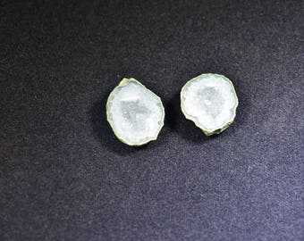 Small Tabasco Geode, Matching Pair