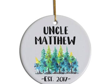 Uncle Ornament, Custom Ornament, Christmas Ornament, Gift for Uncle , Christmas Gift for Uncle , New Uncle  Ornament, Uncle Ornament