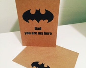 Batman Father's Day card