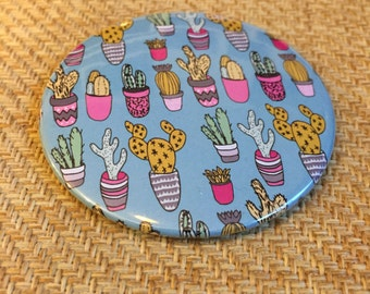 Drych Poced Cactws | Cactus Pocket Mirror