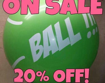 "ON SALE - Q36"" Tennis Ball Balloon *** SALE ***  20% off!!"