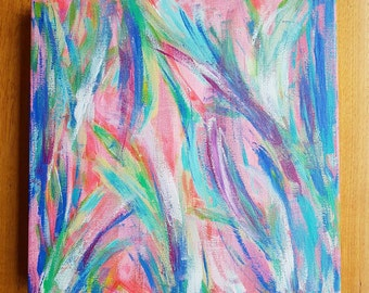 Happy Dance #1 - Original Acrylic Painting on Canvas by Jacinta Payne / Bright Colourful Abstract Art Collection / One of a kind gift ideas