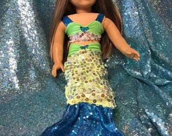 mermaid outfit for 18 inch  dolls