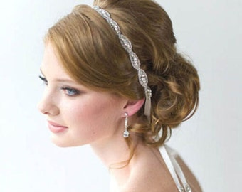 Bridal Headband, crystal headband, crystal headpiece, bridal headpiece