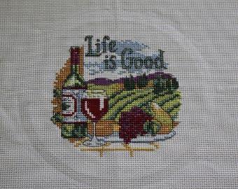 Life is good Cross stitch