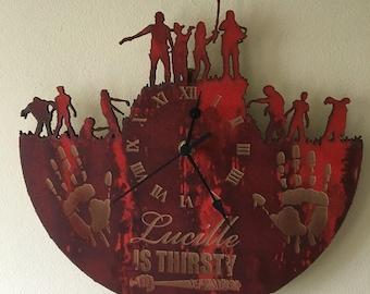 Negan's Lucille laser cut clock