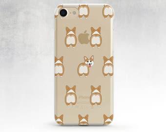 Clear Corgi Case Clear Iphone 7 Case Corgi Butt Clear Iphone 7 Case Corgi Iphone 6 Case Clear Cases Clear Dog Cases Iphone 6s Case Iphone 5s