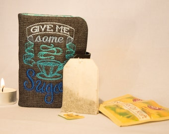 "Tea to go bag motif ""Give me same Sugah"", bag, custom, tea drinkers, gift"