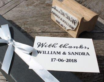 Custom Wedding Favour Stamp