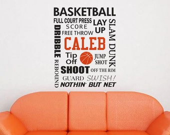 Basketball Subway Monogram Decal Personalized Decal