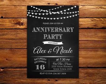 Toll Geburtstag Einladung. Hochzeit Jubiläum Partyeinladung. 25., 30., 40. 50