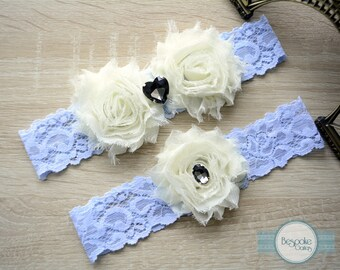 Wedding Garter Set, Lace Wedding Garter, Blue Garter, Blue Lace Garter, Blue Garter Set, Something Blue, Blue Wedding Garters, Blue Bridal
