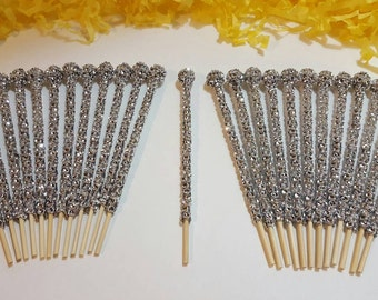 Bling Sticks, Many Colors, Cake Pop, Lollipop, Rock Candy, Marshmallow, Rice Krispie 25 Pcs