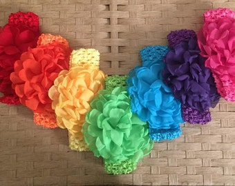Crochet flower headbands